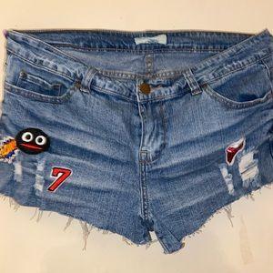 Forever 21 Embellished jean shorts